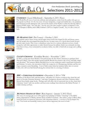 Book Suggestions - 2011-2012 (2) - First Presbyterian Church