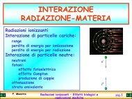 Radiazioni ionizzanti – Effetti biologici e applicazioni mediche - Unisi.it