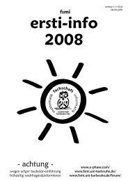 Ersti-Info 2008 - Fachschaft Mathematik/Informatik