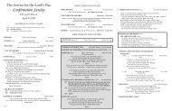 Confirmation Sunday - First Presbyterian Church