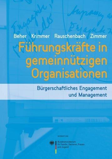 Führungskräfte in gemeinnützigen Organisationen