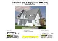 Einfamilienhaus Sägegasse, 3556 Trub - Architekturbüro ...