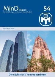 MinD, Magazin von - Freie Universität Berlin