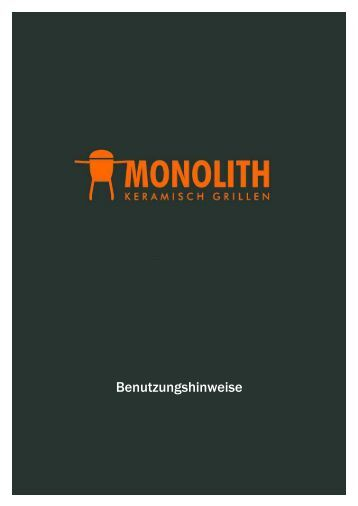Monolith Grill Bedienungsanleitung - Gardelino