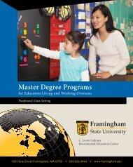 Master Degree Programs - Framingham State University