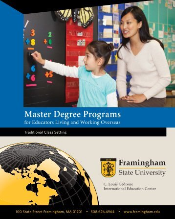 Master Degree Programs - Framingham State University