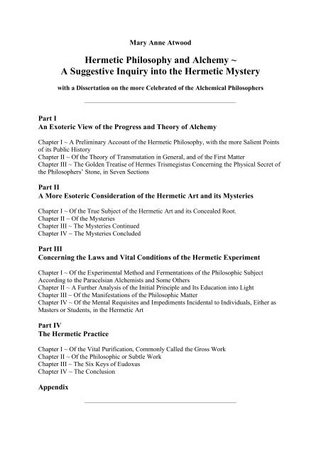 Hermetic Philosophy And Alchemy A A Bardon Companion