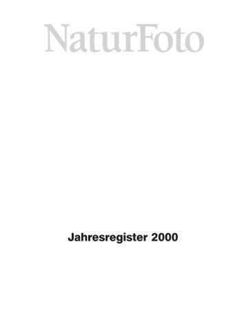 Jahresregister 2000:Jahresregister 2000 - Tecklenborg Verlag