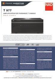 Fiche Technique NAD T977.pdf - France Marketing