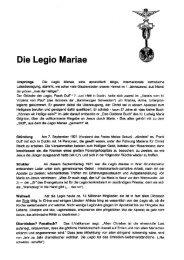 Die Legio Mariae
