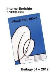 SPN Heft 4 Intern - Gesellschaft der Weltall-Philatelisten, CH