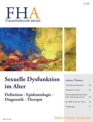 Sexuelle Dysfunktion im Alter. Definition - Frauenheilkunde aktuell