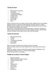 Poissons & fruit de mers - Miss Argan
