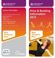Price & Booking Information 2012 - Fusion Lifestyle