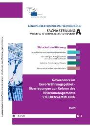 Governance im Euro-Waehrungsgebiet - Europa