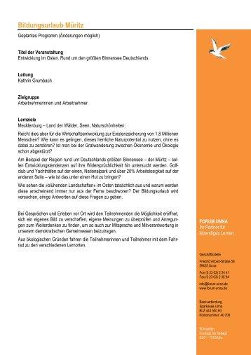Programmablauf Mueritz1 2008 - Forum Unna