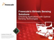 Capacitive Touch Sensors - Freescale Semiconductor