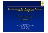 CCMS Governance and Risk Management