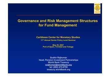 CCMS Governance and Risk Management