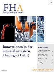 Innovationen in der minimal invasiven Chirurgie (Teil 1)