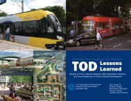 TOD Lessons Learned - Federal Transit Administration - U.S. ...