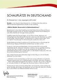 SCHAUPLÄTZE IN DEUTSCHLAND - Forum Justizgeschichte eV