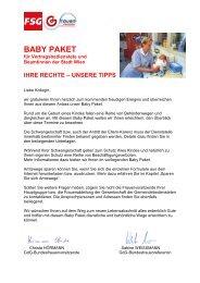Das GdG-Baby Paket - fsg gemeinsam aktiv