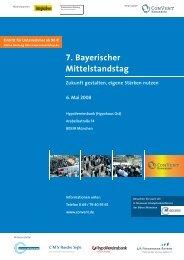 7. Bayerischer Mittelstandstag - Bayerische Beteiligungsgesellschaft ...