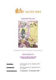 PRESSEMITTEILUNG GEORG BASELITZ - Galerie Noah