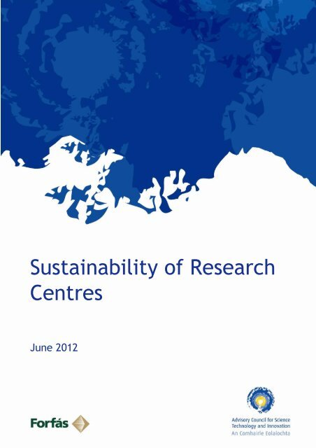 Sustainability of Research Centres - Advisory Science Council