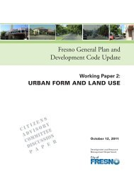 Working Paper #2 (Urban Form) - City of Fresno