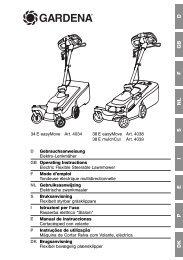 OM, Gardena, Electric Flexible Steerable Lawnmower, Art 04034-20 ...