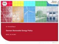 Framework of German energy politics, focusing on photovoltaics