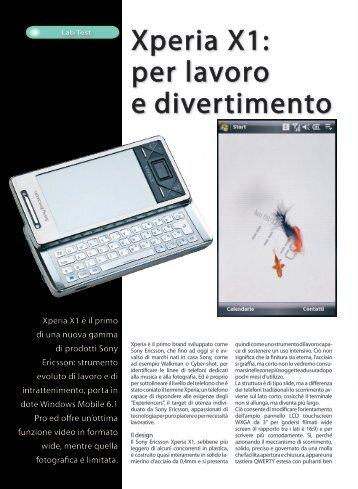 Xperia X1: per lavoro e divertimento - Fotografia.it