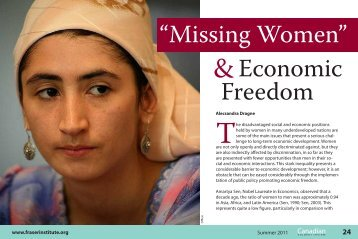 """Missing Women"" and economic freedom - Fraser Institute"