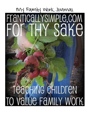 family work journal – week 1 - Frantically Simple