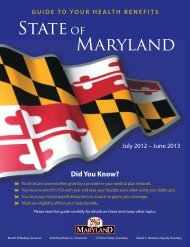 2012 -2013 Benefits Booklet - Frostburg State University