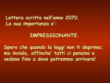 Carta escrita en el 2070 - Formazione e Sicurezza