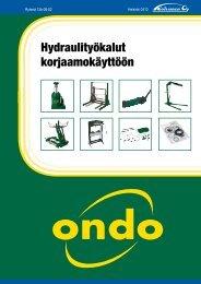 Hydraulityökalut korjaamokäyttöön - Koivunen Oy