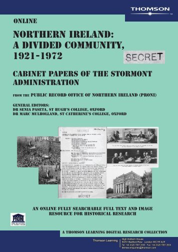 northern ireland: a divided community, 1921-1972 - Galeuk.com ...