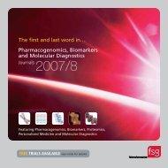 Pharmacogenomics, Biomarkers and Molecular Diagnostics The first ...