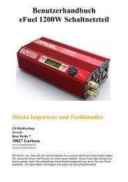 Benutzerhandbuch eFuel 1200W Schaltnetzteil