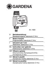 OM, Gardena, Programmateur electronic C14e, Art 1820-02, 2013-01