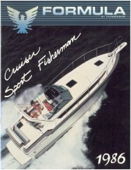 1986 Formula Cruiser & Sport Fisherman Brochure - Formula Boats