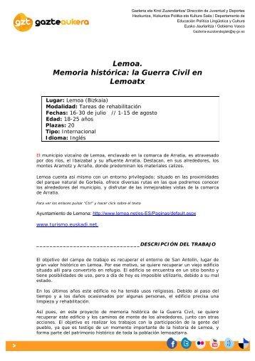 Lemoa - Gazteaukera - Euskadi.net
