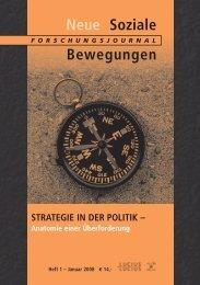 Vollversion (7.1 MB) - Forschungsjournal Neue Soziale Bewegungen