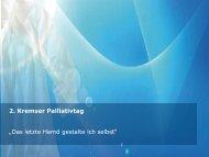 2. Kremser Palliativtag - Förderverein Palliative Care