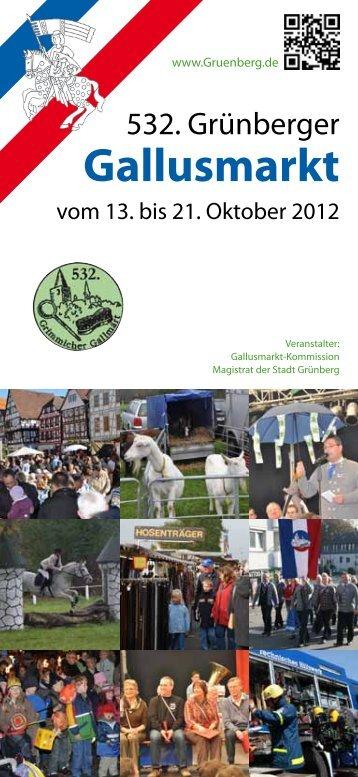Gallusmarkt - Programm - Flyer - der Stadt Grünberg