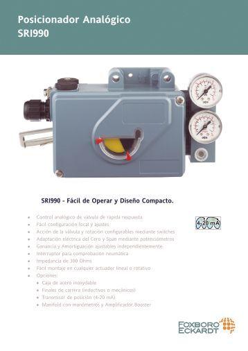 Posicionador Analógico SRI990 - Invensys