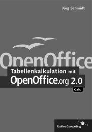 Tabellenkalkulation mit OpenOffice.org 2.0 - Galileo Computing